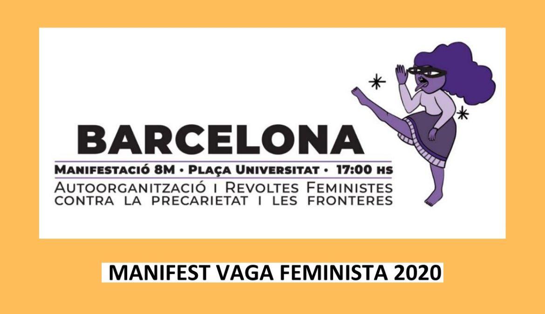 Manifest Vaga Feminista 8M 2020